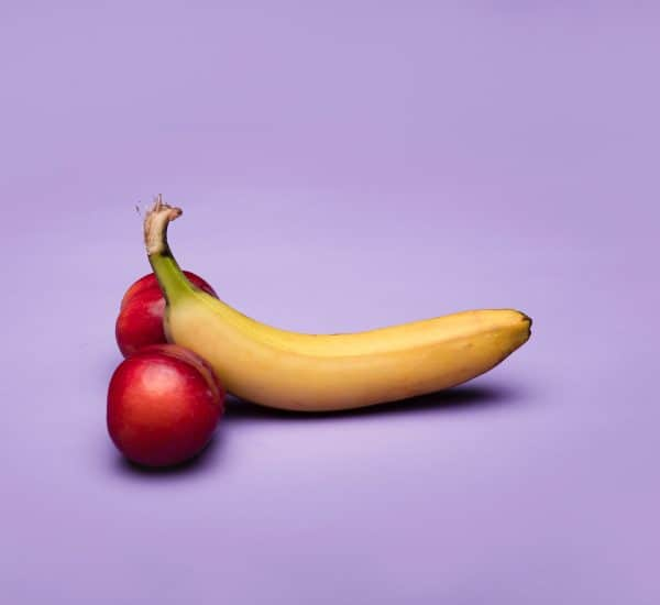 peaches-and-bananas-purple background